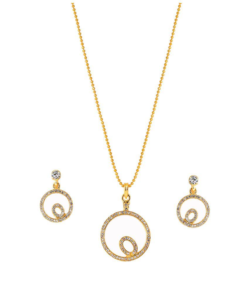 Touchstone Modish Gold Plated Pendant Set: Buy Touchstone