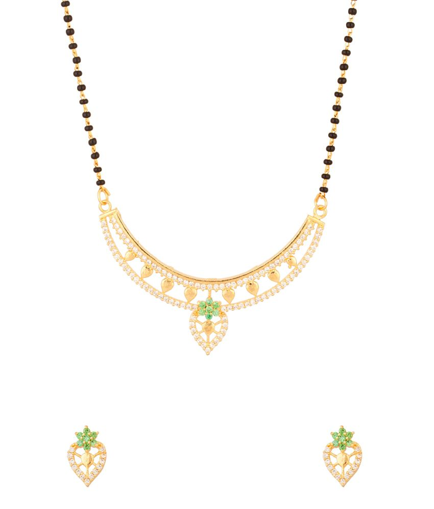 Voylla Peacock Motif Inspired Mangalsutra With Single Chain