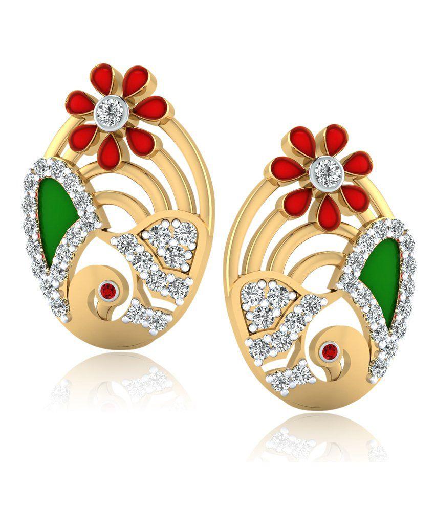 Forever Carat Real Diamond Gemstone Earrings In 100% Certified 925 Sterling Silver 129ygde