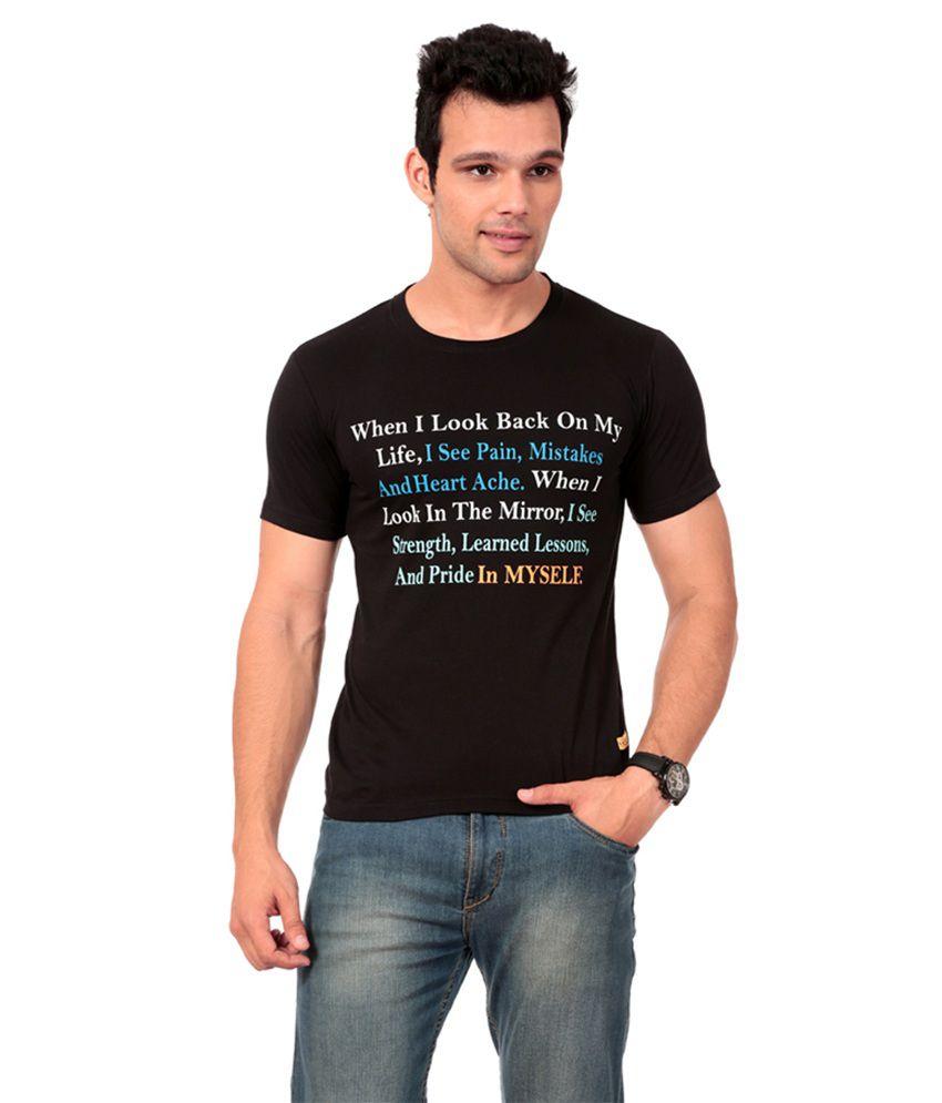 Texco Black T-shirt For Men