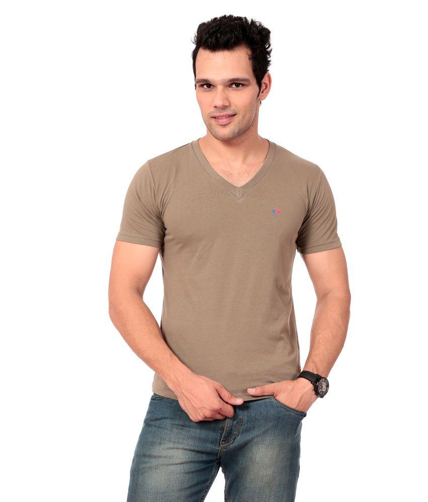 Texco Khaki T-shirt For Men