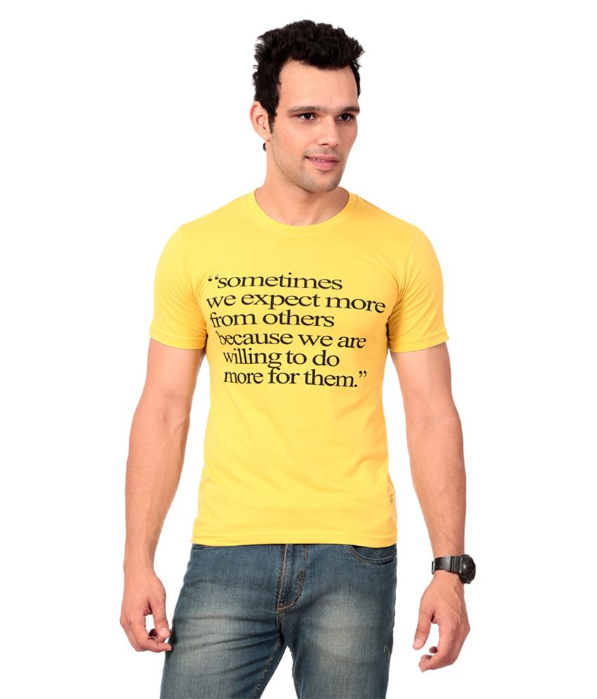 Texco Yellow T-shirt For Men