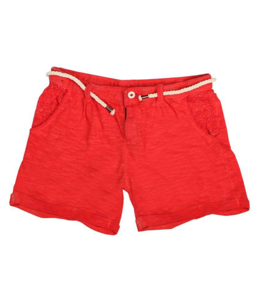 Fiore Jitu Red Shorts