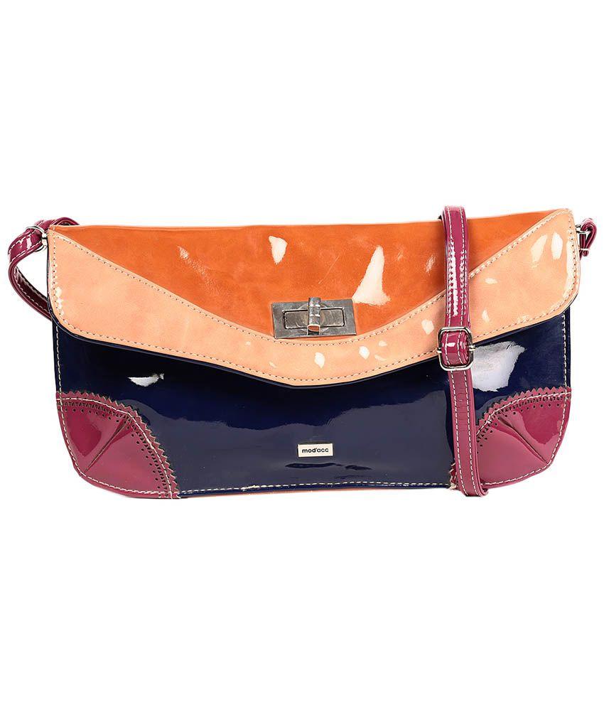 Reyna nk5-orange Blue Sling Bags