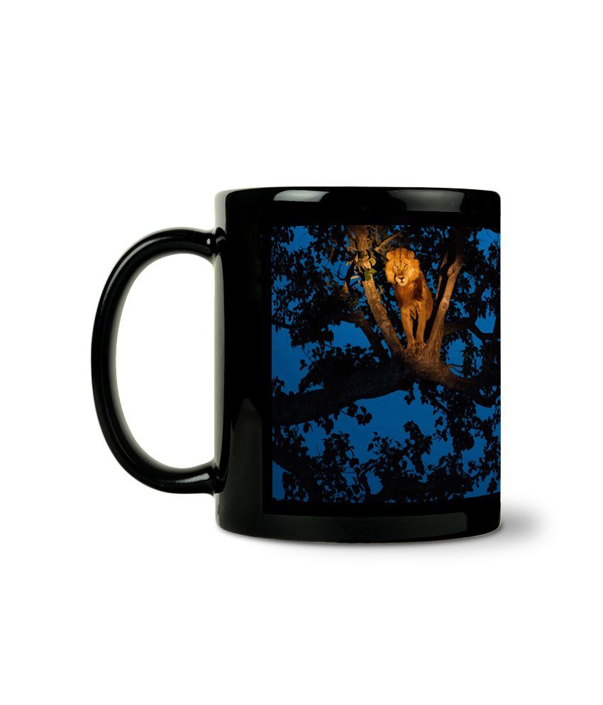Bluegape Royal Lion King Black Mug