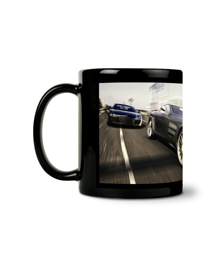 Bluegape Super Car Black Mug