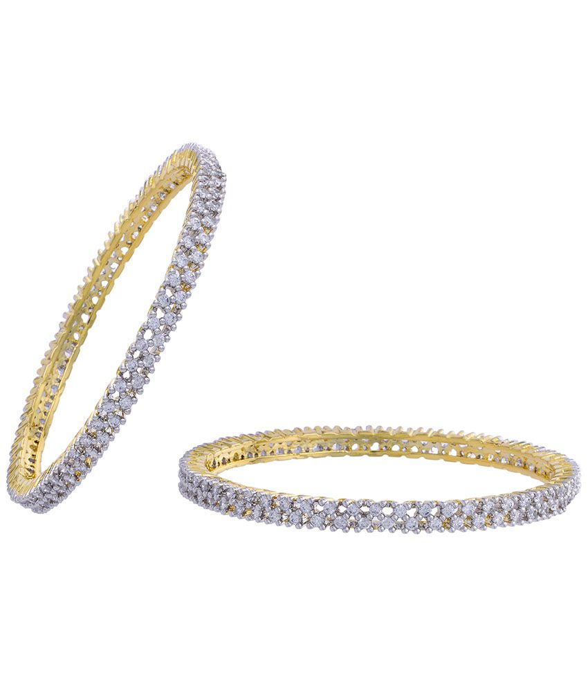 338dc9d5fc71d5 Hyderabad Jewels Golden & Silver Bangles Pack Of 2: Buy Hyderabad Jewels  Golden & Silver Bangles Pack Of 2 Online in India on Snapdeal