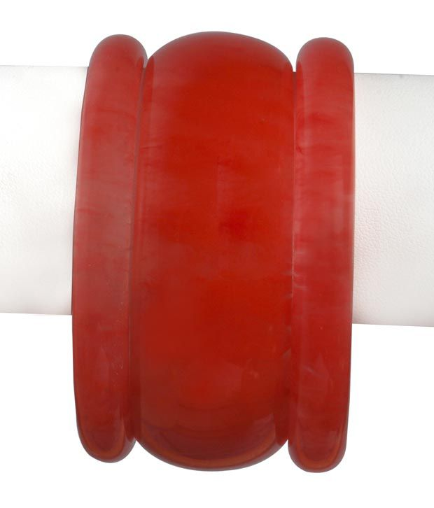 Karigari Fashions Tamota Red Bracelet In 2.4 Size