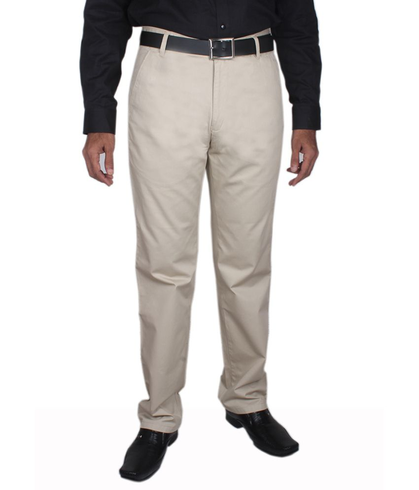 Maharaja Cream Men's Semi Formal Trouser