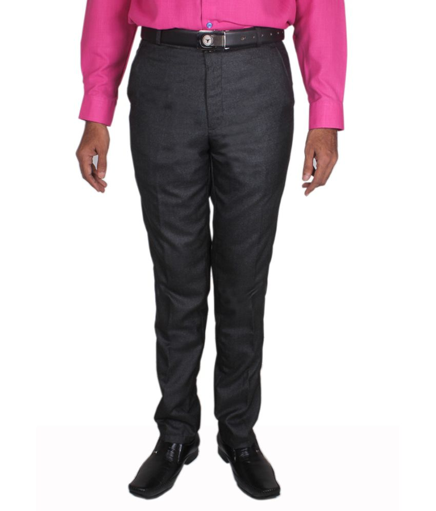 Maharaja Design Black Men's Formal Trouser