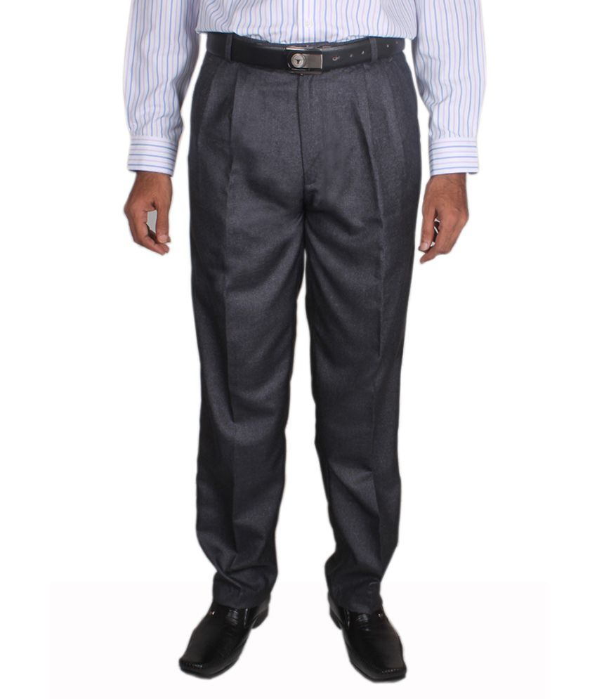 Maharaja Design Blue Men's Formal Trouser