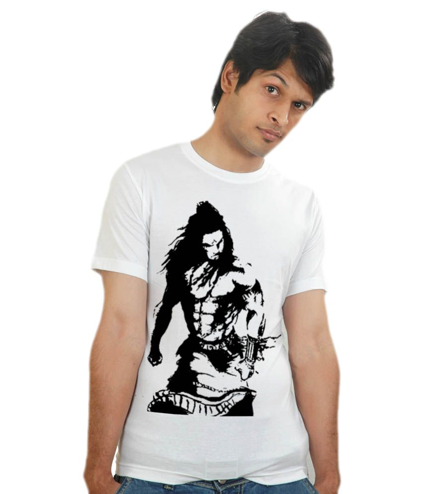 Shopping Monster Lord Shiva Rudra Avtaar White T-shirt - Buy ...