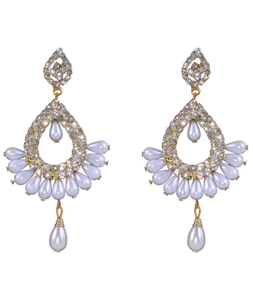 Sp Jewellery Pearl Silver Hanging Earrings