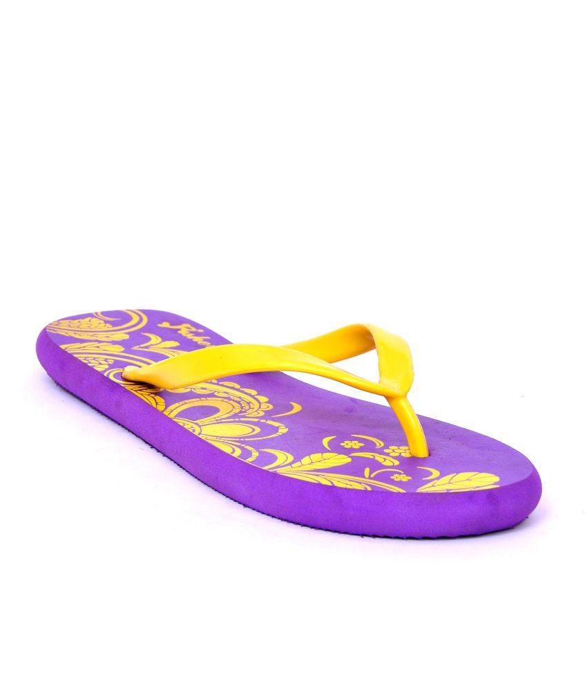 Fisher Violet Sun Petals Flip Flops
