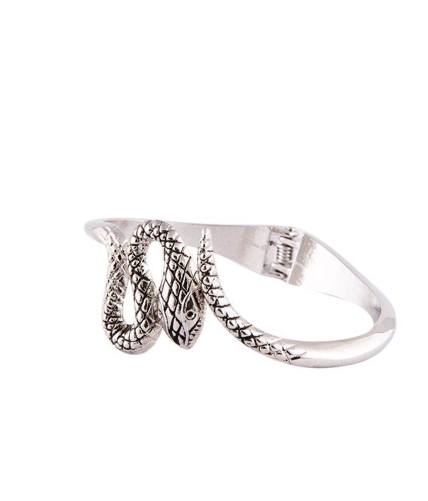 Habors Engraved Antique Silver Snake Bracelet