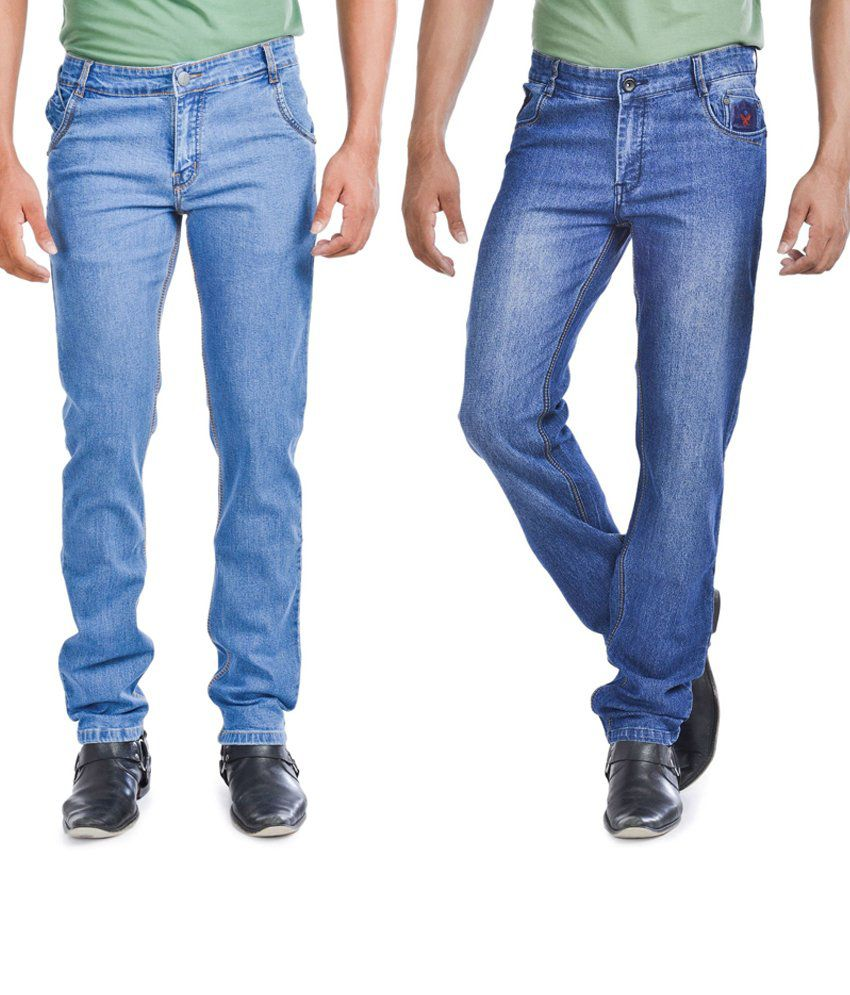 Wintage Jeans Combo Of Two Regular Fit Blue Jeans
