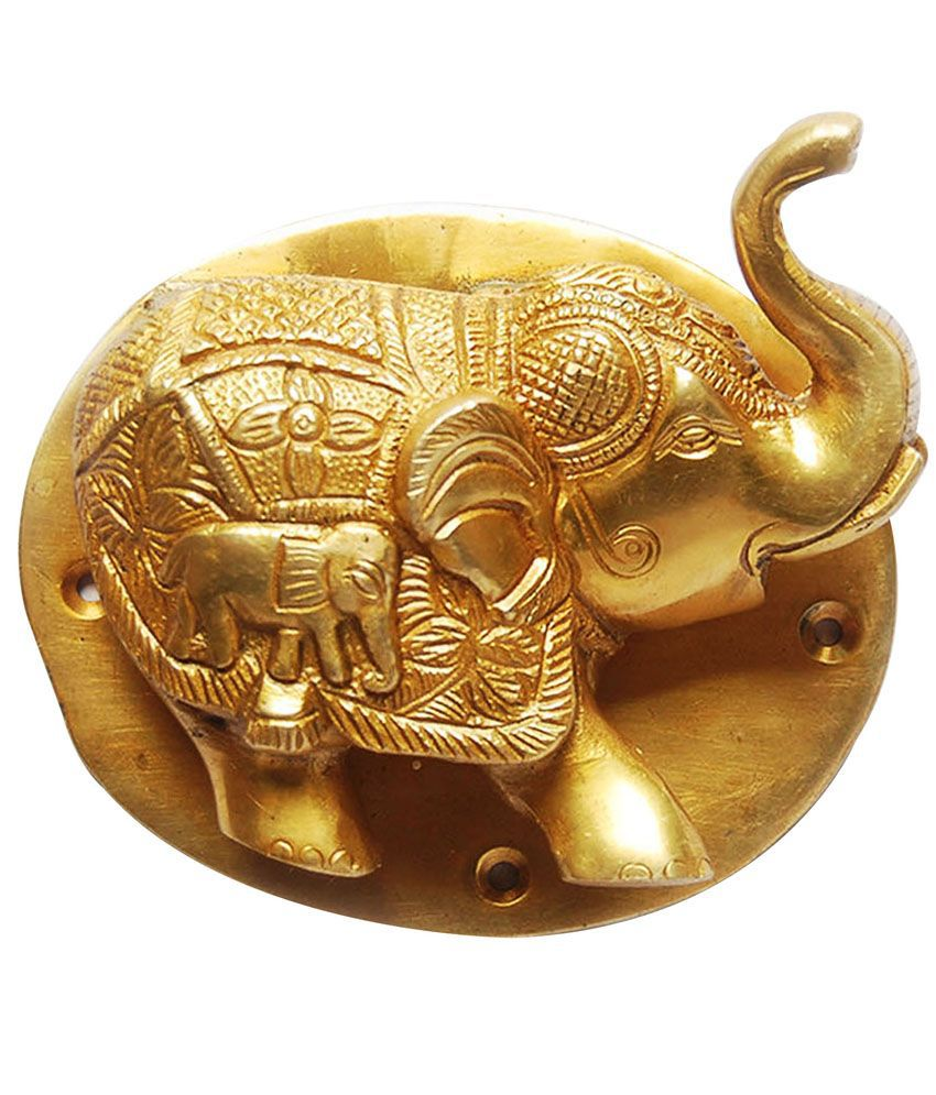 Aakrati unique and brass made door knocker best price in india on 12th january 2018 dealtuno - Brass elephant door knocker ...