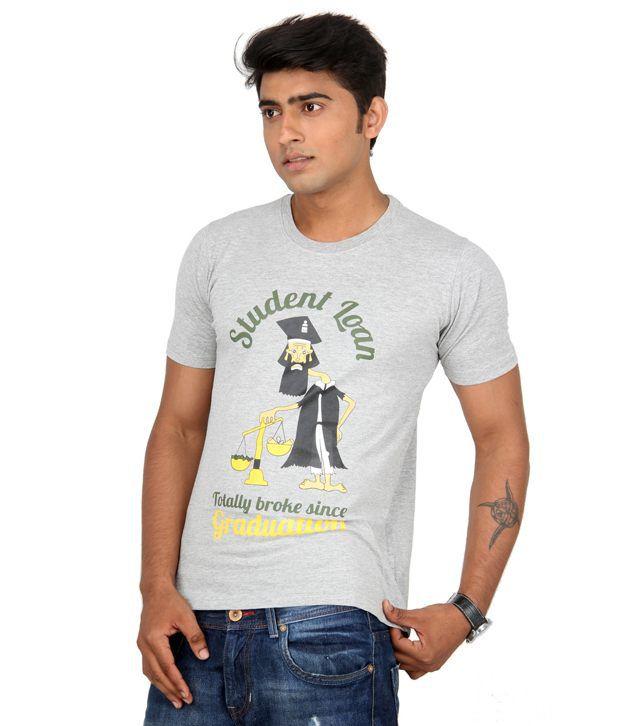 Bandarwalla Broke Student Melange T-shirt