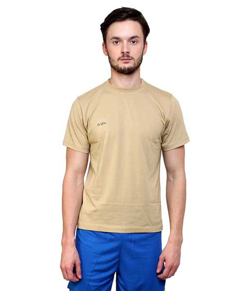 Dida  Beige Cotton T-shirt