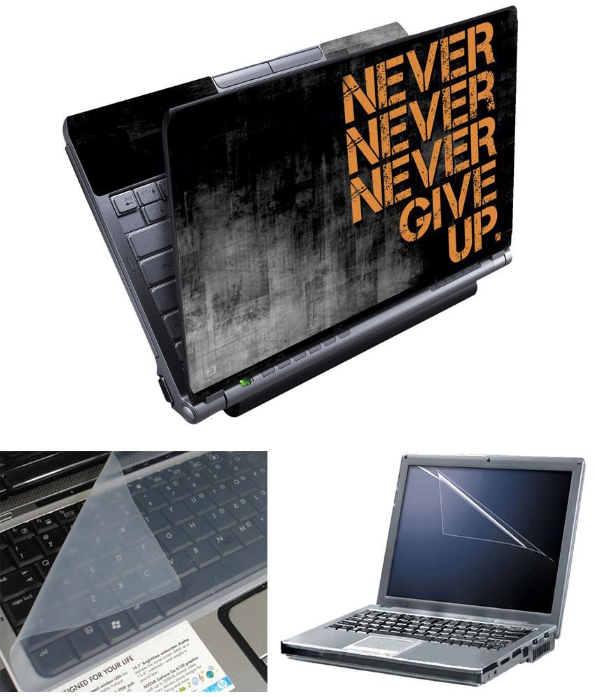 Finearts Full Panel Textured Laptop Skin - Never Printed With Screen Guard And Keyboad Protector
