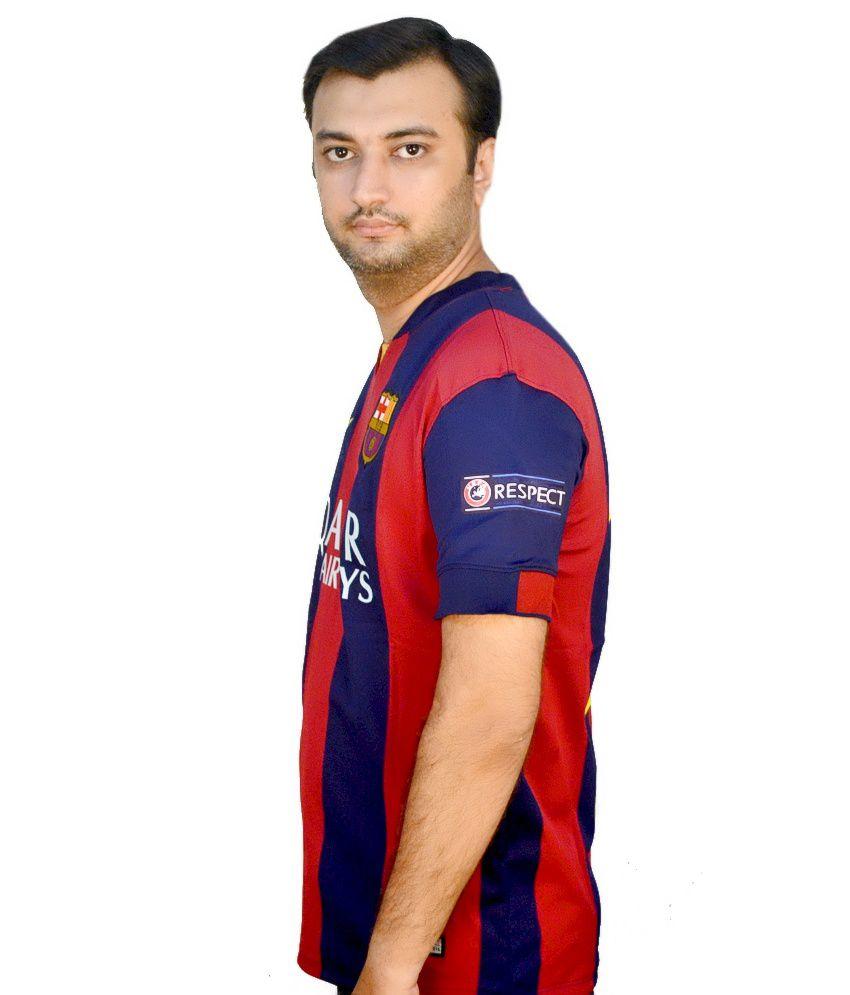 62d4aa21673 Nike Blue Polyester Original Messi 10 Barcelona Jersey - Buy Nike ...
