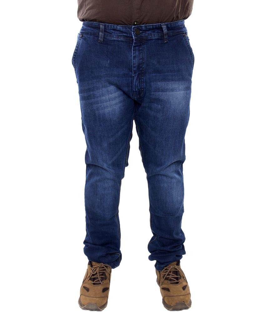 R-69 Blue Cotton Slim Fit Jeans