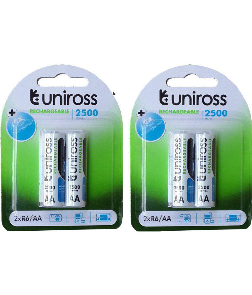 Uniross 2500 Series 4aa/r6 Rechargeable Batteries