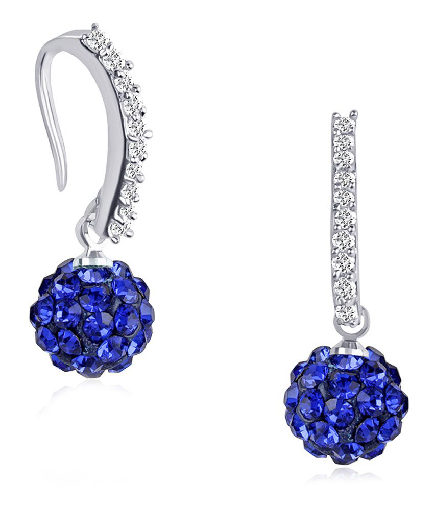 Vk Jewels Claire Blue Rhodium Plated Bali - Bali1024r