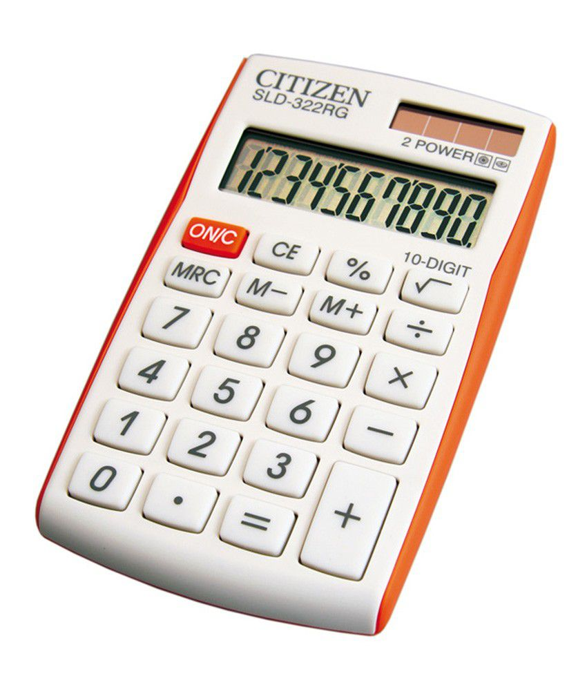 citizen calculator how to use