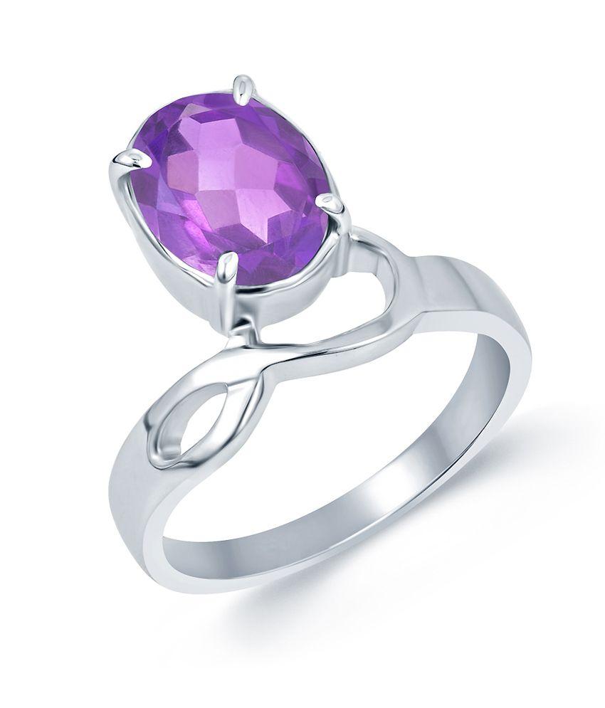 G-Luck Gemstone AMETHYST G-Luck Silver Ring 92.5