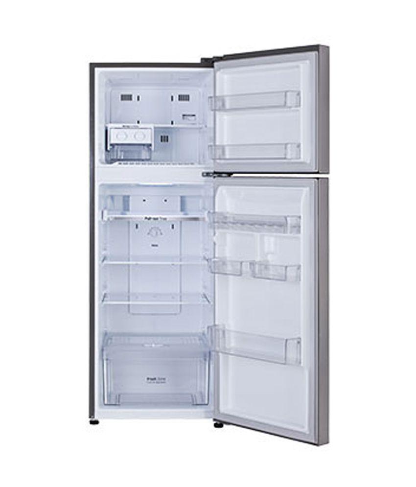 Lg 255 Litres Gl B282slcl Frost Free Double Door Refrigeratorshiney Steel
