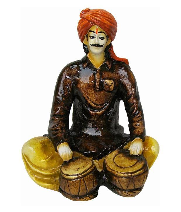 Prabhu Arts Brown Polyresin Rajasthani Man