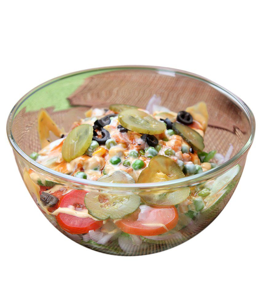 Vertis 1 Pcs Borosilicate Glass Salad Bowl 1000 mL