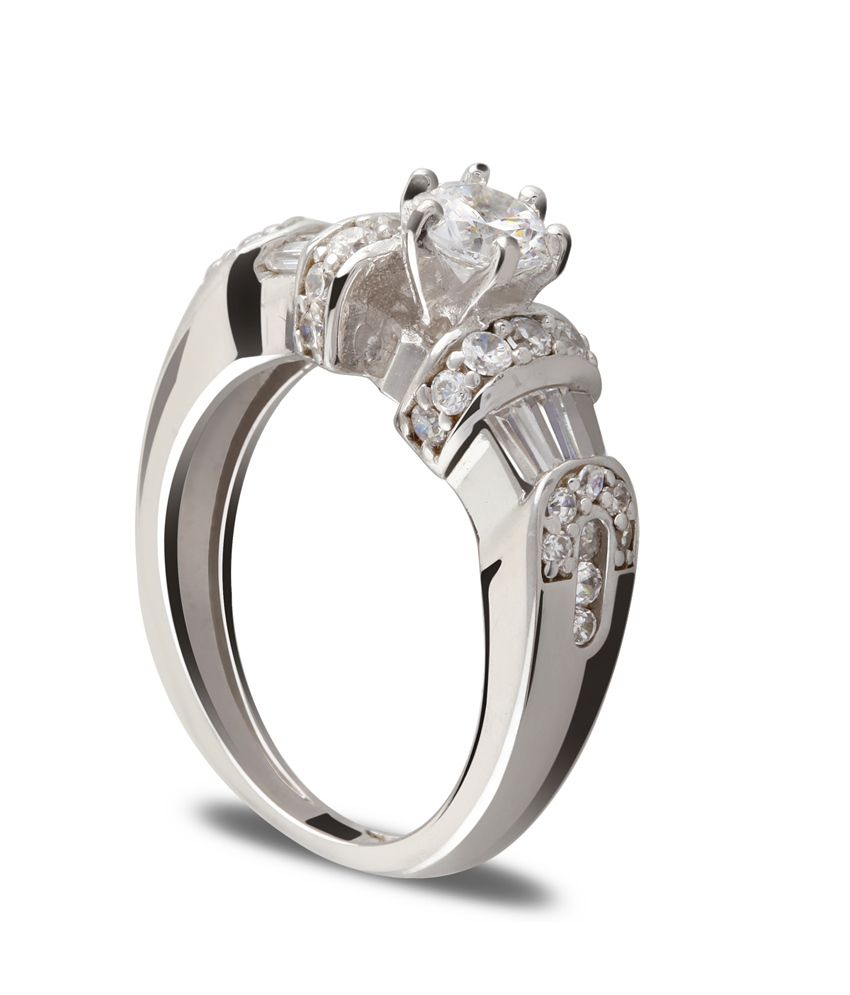 Aashirwad Silver Contemporary Ring For Women