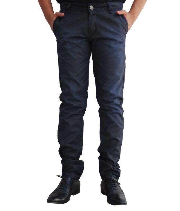 Ben Carter Men's Premium Fusion Dark Charcoal Blue Jeans