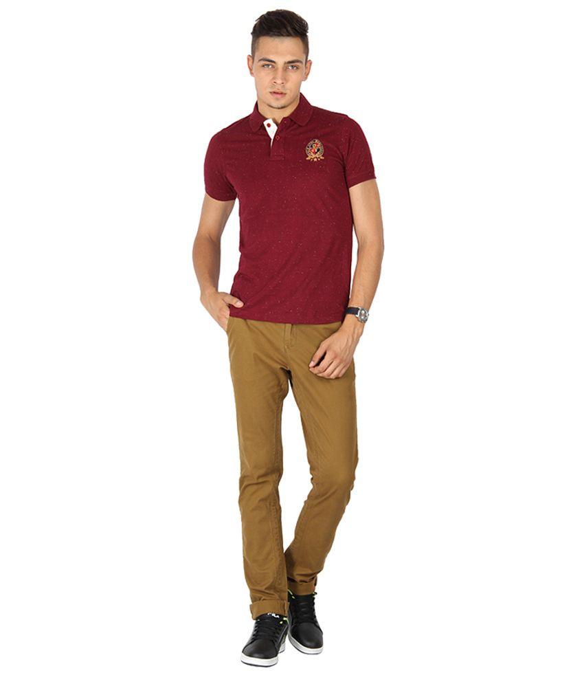 Proline Varsity Maroon Polo T-shirt