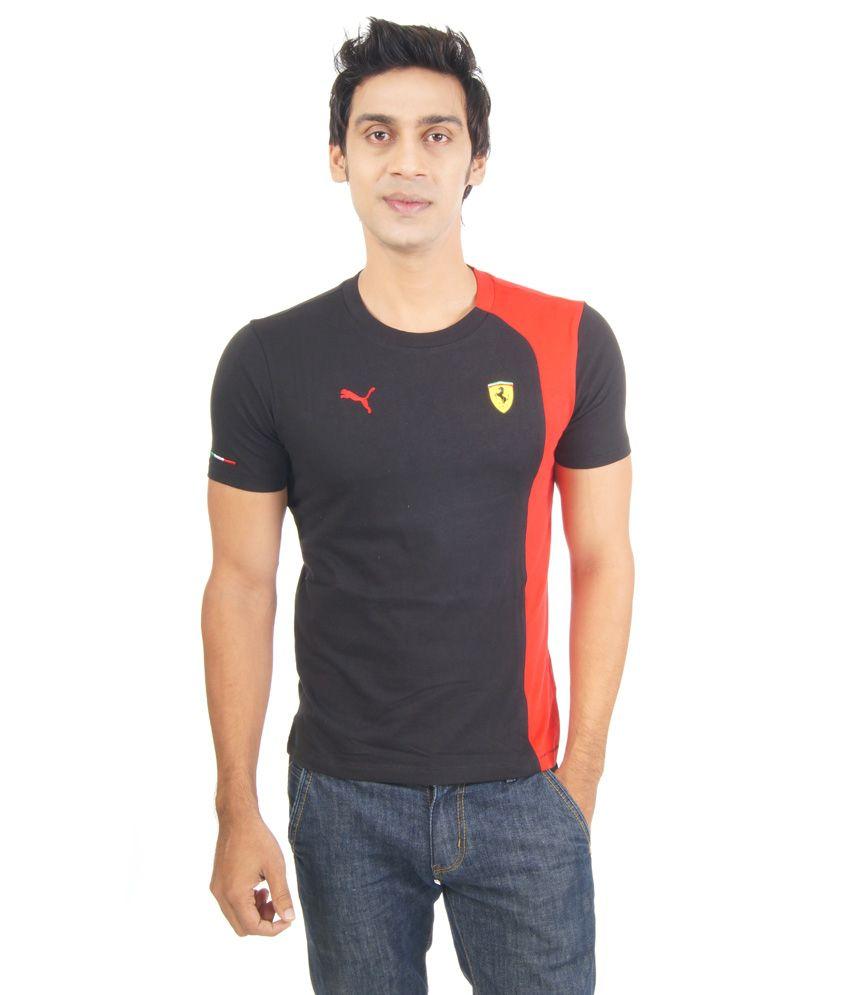 Puma Black Cotton Round Neck T-shirt