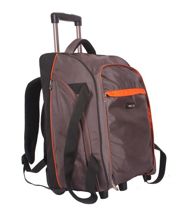Bags.R.Us Grey & Black Travelling Bag With Wheels