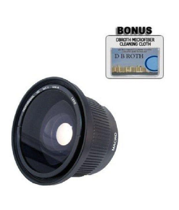 Plr 0.42x Hd Super Wide Angle Panoramic Macro Fisheye Lensfor The Canon Digital