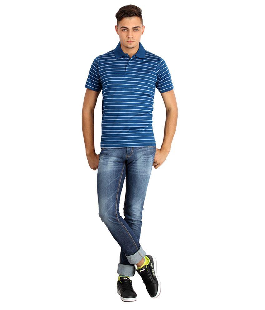 Proline Colours Blue Polo T-shirt