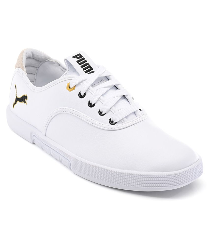 White Canvas Shoes Online India