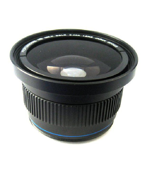 Zeikos Ze-3446f 46/49/52/58mm 0.40x High Definition Fisheye Lens With Macro Attachment, Includes Lens Pouch And Cap Covers