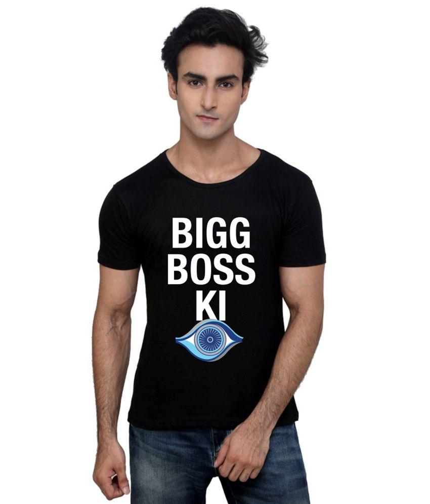 Bigg Boss Black Cotton  T-Shirt