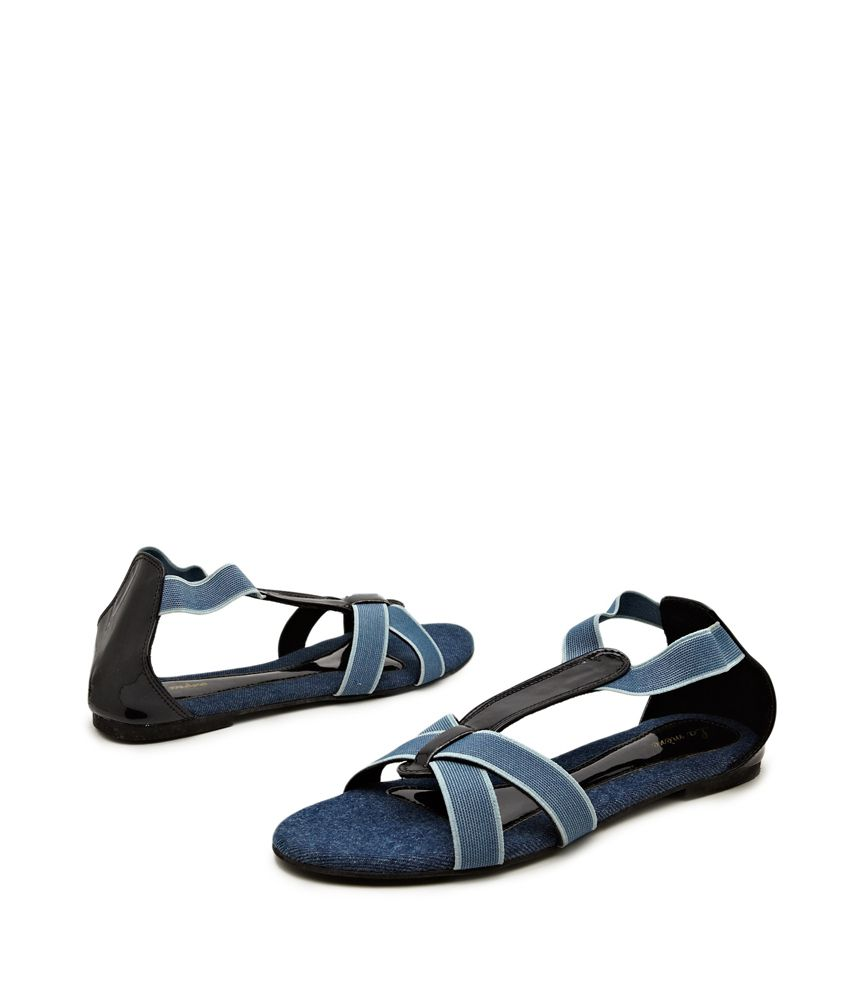 Lamere Medium Blue Strappy Happy Sandals