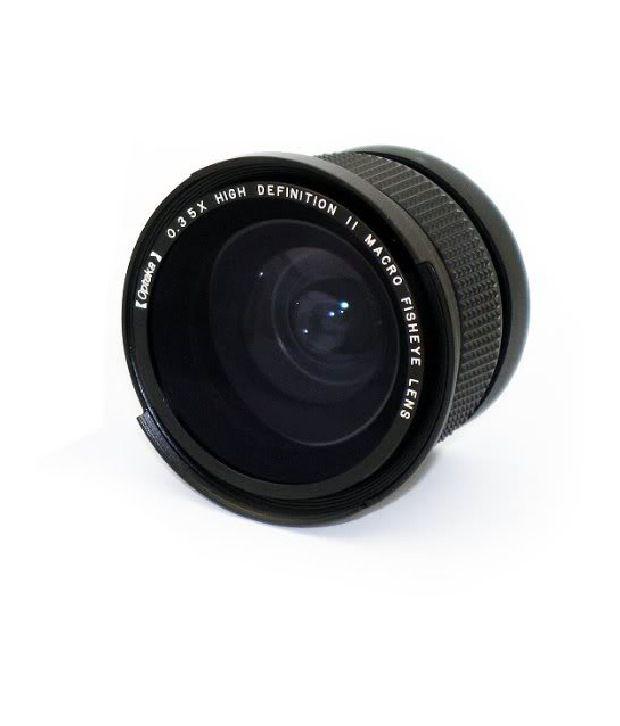 Opteka .35x Hd Super Wide Angle Panoramic Macro Fisheye Lens For Nikon Digital Slr Cameras