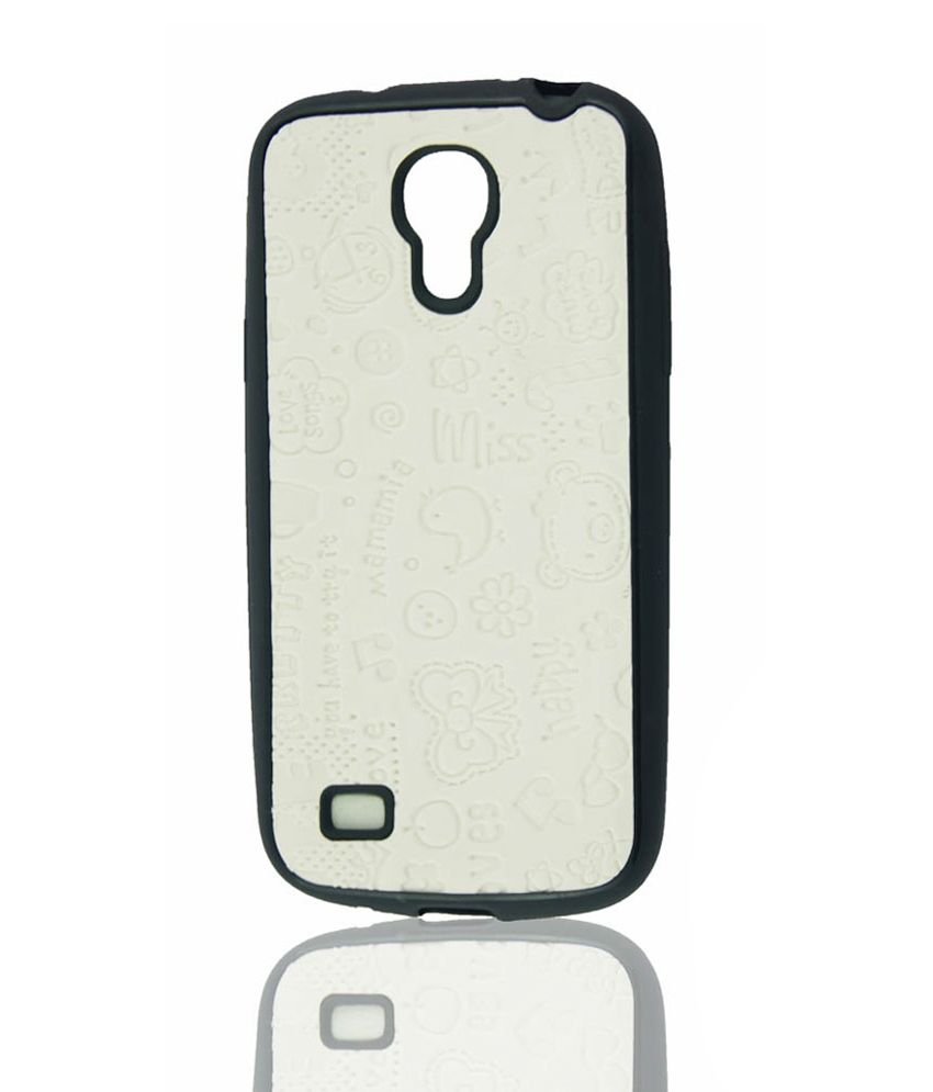 low priced fba9a 3eaef Vt Cute Silicon Back Case Cover For Samsung Galaxy S4 Mini I9190 - White