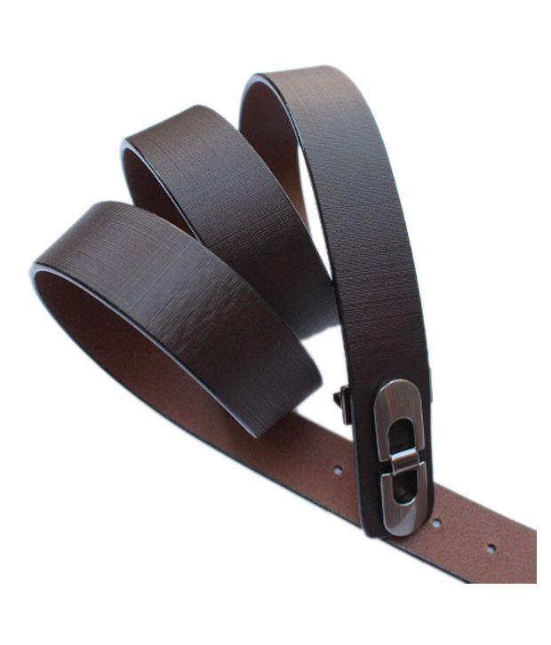 Winsomedeal Brown Casual Single Belt For Men