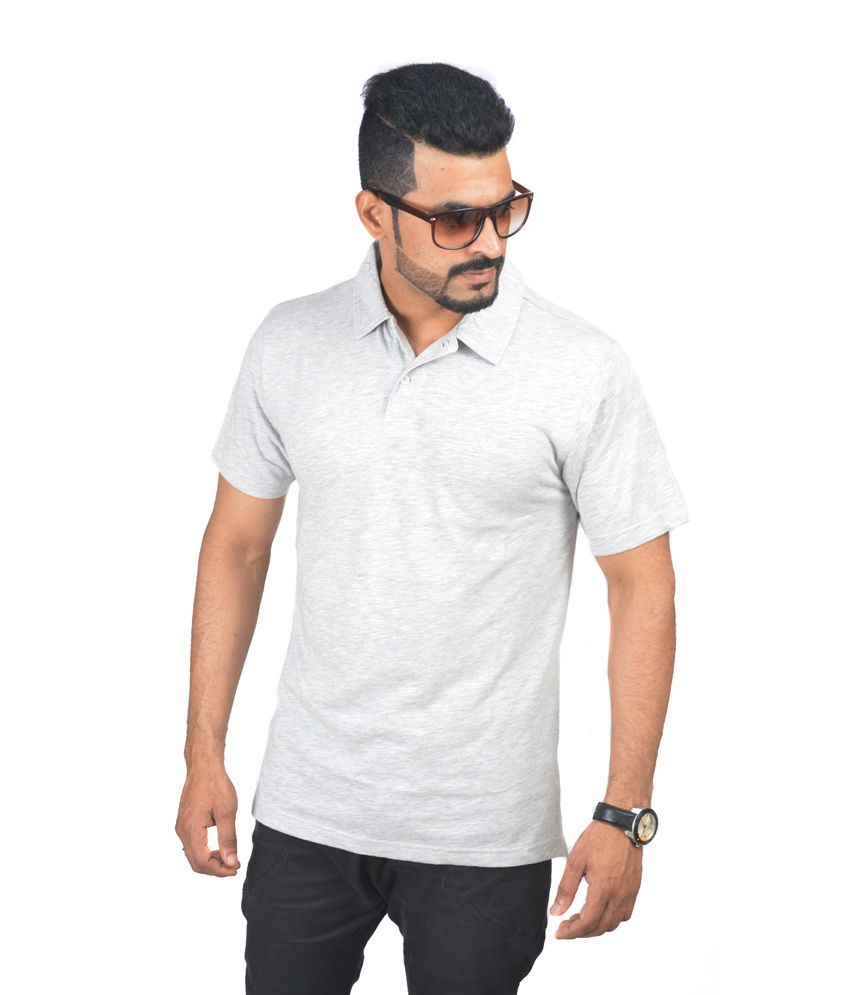 woodside light gray half polo t shirt buy woodside light gray half polo t shirt online at low. Black Bedroom Furniture Sets. Home Design Ideas