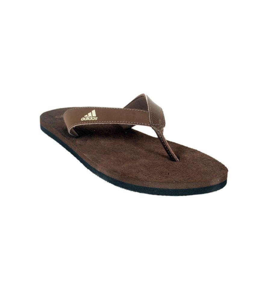 3531cf2493a975 Adidas Durok Dark Brown Slipper Price in India- Buy Adidas Durok Dark Brown  Slipper Online at Snapdeal