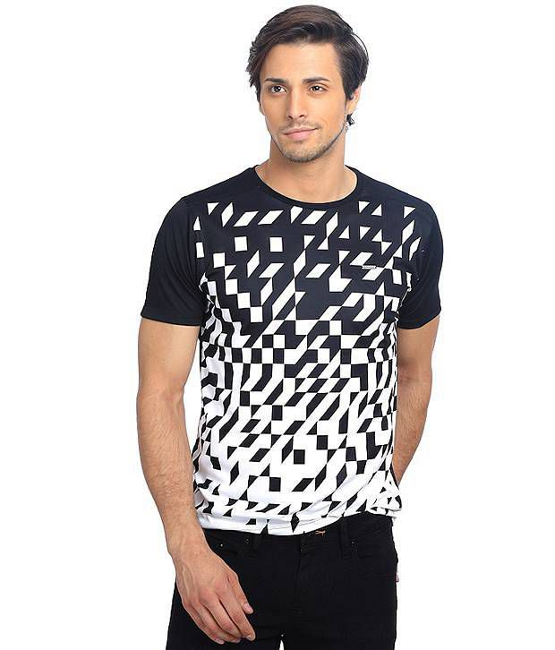 Basics Black Polyester T-shirt